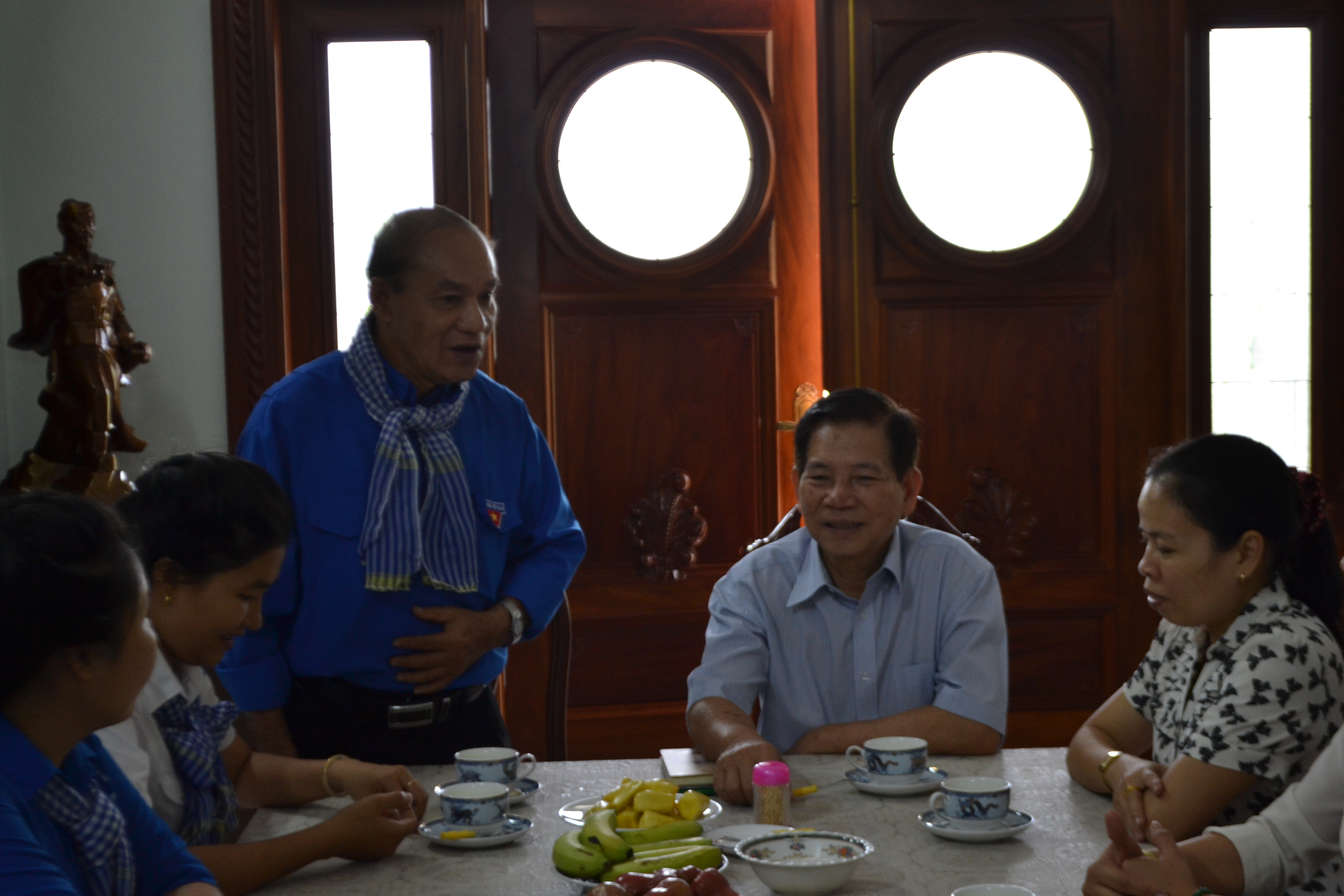 TS. Trần Hồi Sinh và các Đoàn viên gặp gỡ Nguyên Chủ tịch nước Nguyễn Minh Triết